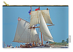 Carry-all Pouch featuring the photograph Tall Ship Pathfinder by Rodney Campbell