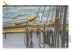 Carry-all Pouch featuring the photograph Tall Ship Rigging by Dale Powell