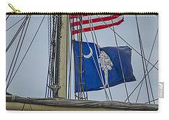 Carry-all Pouch featuring the photograph Tall Ships Flags by Dale Powell