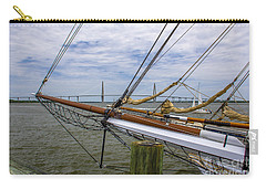 Carry-all Pouch featuring the photograph Tall Ships In Charleston by Dale Powell