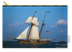 Carry-all Pouch featuring the digital art Tall Ships Over Charleston by Dale Powell