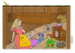Carry-all Pouch featuring the painting Tammy And Her Playmates by Reynold Jay