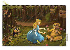 Carry-all Pouch featuring the painting Tammy And The Baby Hoargg by Reynold Jay