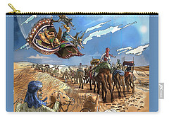 Carry-all Pouch featuring the painting Tammy And The Flying Carpet by Reynold Jay