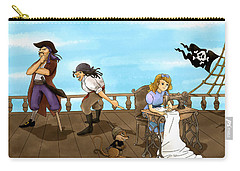 Carry-all Pouch featuring the painting Tammy And The Pirates by Reynold Jay