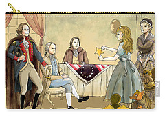 Carry-all Pouch featuring the painting Tammy Meets Betsy Ross And George Washington by Reynold Jay