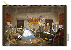 Carry-all Pouch featuring the painting Tammy In Independence Hall by Reynold Jay