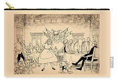 Carry-all Pouch featuring the drawing Tammy In Indpendence Hall by Reynold Jay