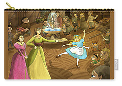 Carry-all Pouch featuring the painting Tammy In The Town Square by Reynold Jay