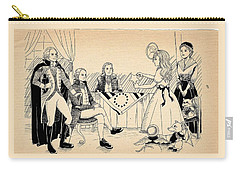 Carry-all Pouch featuring the drawing Tammy Meets Betsy Ross by Reynold Jay