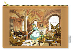 Carry-all Pouch featuring the painting Tammy Meets Mr. Scott by Reynold Jay