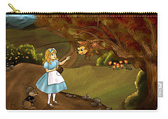 Carry-all Pouch featuring the painting Tammy Meets Zeke The Opossum by Reynold Jay