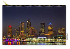 Tampa Lights At Dusk Carry-all Pouch by Marvin Spates