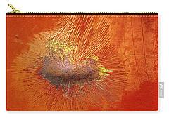 Tangerine Burst Carry-all Pouch by Leanna Lomanski
