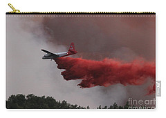 Tanker 07 Drops On The Myrtle Fire Carry-all Pouch by Bill Gabbert