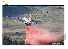 Carry-all Pouch featuring the photograph Tanker 45 Dropping On Whoopup Fire by Bill Gabbert