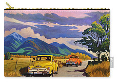 Taos Joy Ride With Yellow And Orange Trucks Carry-all Pouch