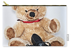 Tap Dance Shoes And Teddy Bear Dance Academy Mascot Carry-all Pouch by Pedro Cardona