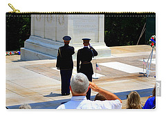 Carry-all Pouch featuring the photograph Taps At The Tomb Of The Unknown by Patti Whitten