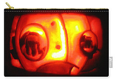 Carry-all Pouch featuring the sculpture Tarboy Pumpkin by Shawn Dall