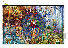 Tarot Of Dreams Carry-all Pouch by Ciro Marchetti
