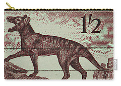 Tasmanian Tiger Vintage Postage Stamp Carry-all Pouch by Andy Prendy