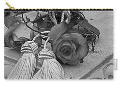 Carry-all Pouch featuring the photograph Tassels And Roses Beauty by Sandra Foster