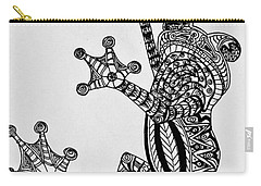 Tattooed Tree Frog - Zentangle Carry-all Pouch