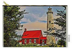 Tawas Point Light Retro Mode Carry-all Pouch