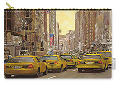taxi a New York Carry-all Pouch by Guido Borelli
