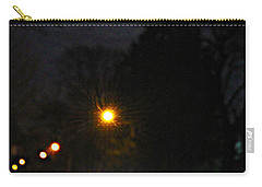 Carry-all Pouch featuring the photograph Taxi In Full Moon by Nina Silver