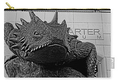 Tcu Horned Frog Black And White Carry-all Pouch