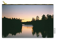 Carry-all Pouch featuring the photograph Tea Lake Sunset by David Porteus