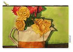 Tea Roses Bordered Carry-all Pouch