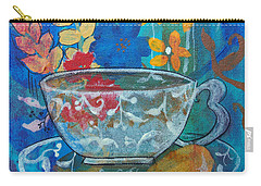 Carry-all Pouch featuring the painting Tea With Biscuit by Robin Maria Pedrero