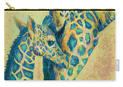 Teal Giraffes Carry-all Pouch