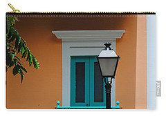 Teal With Pale Orange Carry-all Pouch