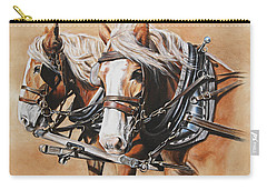 Carry-all Pouch featuring the painting Ted And Tom by Kim Lockman
