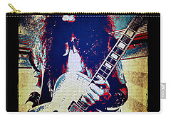 Ted Nugent - Red White And Blue Carry-all Pouch by Absinthe Art By Michelle LeAnn Scott
