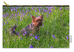 Teddy Amongst The Bluebells Carry-all Pouch