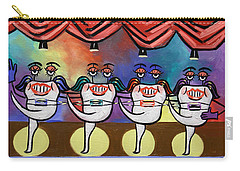 Carry-all Pouch featuring the painting Teeth With Braces Dental Art By Anthony Falbo by Anthony Falbo