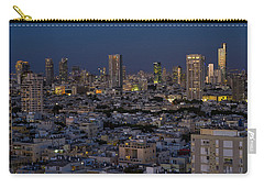 Carry-all Pouch featuring the photograph Tel Aviv At The Twilight Magic Hour by Ron Shoshani