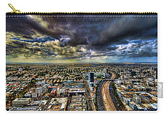 Carry-all Pouch featuring the photograph Tel Aviv Blade Runner by Ron Shoshani