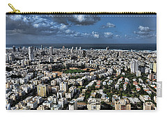 Carry-all Pouch featuring the photograph Tel Aviv Center by Ron Shoshani