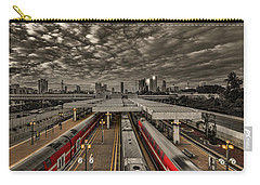 Carry-all Pouch featuring the photograph Tel Aviv Central Railway Station by Ron Shoshani