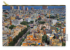 Carry-all Pouch featuring the photograph Tel Aviv Eagle Eye View by Ron Shoshani
