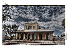 Carry-all Pouch featuring the photograph Tel Aviv First Railway Station by Ron Shoshani