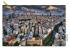 Carry-all Pouch featuring the photograph Tel Aviv Lookout by Ron Shoshani
