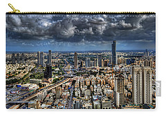 Carry-all Pouch featuring the photograph Tel Aviv Love by Ron Shoshani
