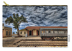 Carry-all Pouch featuring the photograph Tel Aviv Old Railway Station by Ron Shoshani